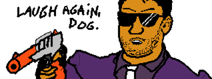 Miiverse Drawing: Laugh Again, Dog by JusticeColde