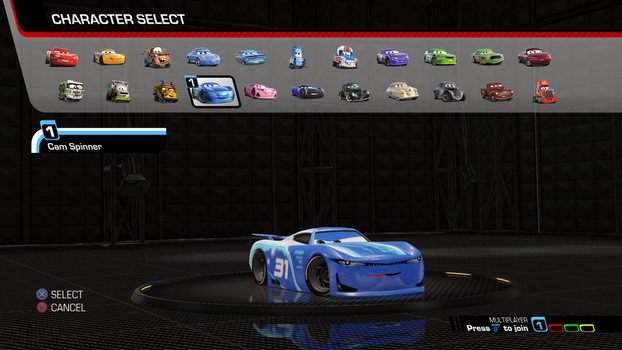 Cars 3  Driven to Win - Cam Spinner by NaruHinaFanatic