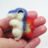 Cyndaquil Needle Felted by LeiliaClay