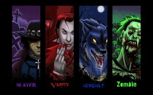 Generic horror guys bookmarks by thenumber42