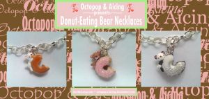 Donut-Eating Bear Necklaces by Octopop-n-Aicing