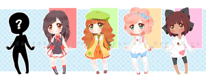Collab Adopts 1st set - CLOSED by Neko-Rina