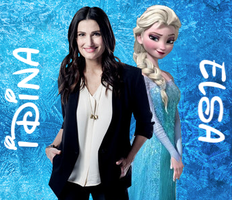 Idina and Elsa by FlyingPrincess