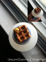 Polymer Clay Waffles by UnicornCharms