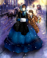 Winter in Victorian London by Miss-Alex-Aphey
