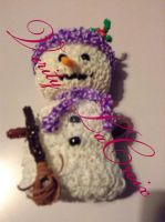 Amigurumi loom band Snowman by VerityLaCroix