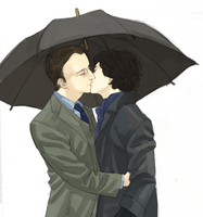 umbrella kiss by cosom