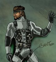 Solid Snake by geogant