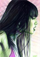 She-Hulk Sketch Card 2 by veripwolf