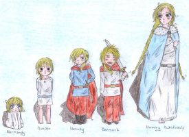 aph: Mummy Scandinavia and her children by LoveEmerald