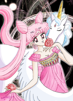 Princess Lady Serenity and Helios by MelodyCrystel