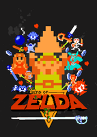 The Legend of Zelda 8-Bit by gamingaddictmike125