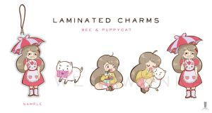 Bee and Puppycat Laminated Charms by weiliwonka