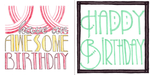 Deco Birthday Cards by Elliekin