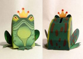 Paper Wedgies Frog King by goosezilla