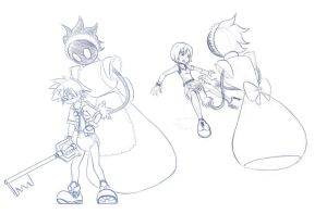 Padded Sora and Kairi by The-Padded-Room