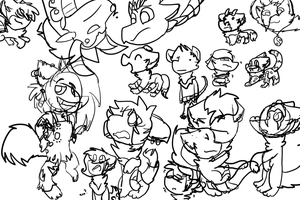 Giant Group Drawing _WIP_ by thawolfmaster