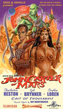 John Carter of Mars by Cecil DeMille Poster by ScaleyScribe