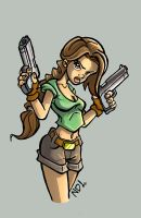 Lara Croft by scoundreldaze