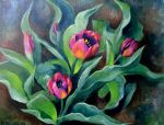 Plein Air Tulips by TernFeather