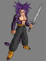 Future Trunks SSJ4 V3 by theothersmen