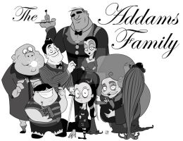 Addams Family Portrait by smallvillereject