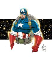 Captain America Markers - colors by Rexbegonia