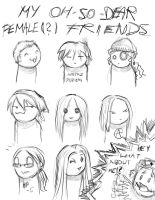 My female -or not- friends xP by PencilLover