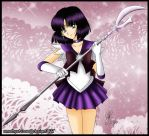 [Redraw] 66. Sailor Saturn by amethyst-rose