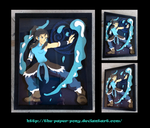Avatar: The Last Airbender Korra Shadowbox by The-Paper-Pony