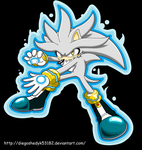 Silver the Hedgehog using your power by DiegoShedyk53182
