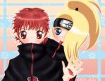 .:Deidara and Sasori:. by Zafiro-Chan