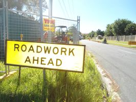 another roadwork sign stock by avenueimage