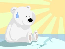 Polarbear Meets Global Warming by brenlez