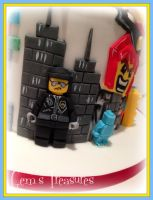 The Lego Movie Cake Bad Cop by gertygetsgangster
