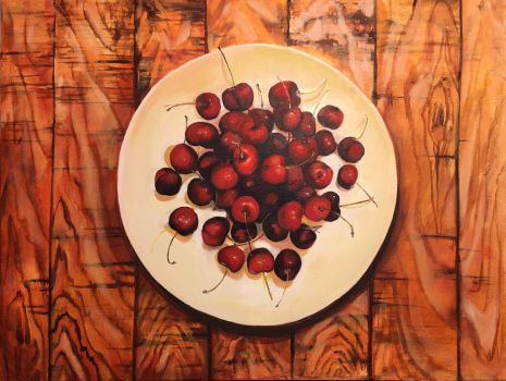 A Plate of Cherries by Everlasting-River