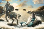The Centaur and the Mermaid by Kezhound