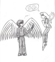 Mark and Chen With Wings by chibbyart