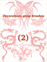 decoration gimp brushes 2 by ahmadhasan