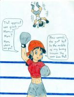 Pan's boxing lessons by Jose-Ramiro