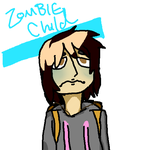 Vince the Zombie child by thewaffleperson