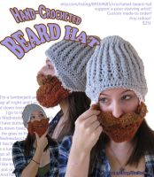 Hand-Crocheted BEARD HAT by gretchen-kessler