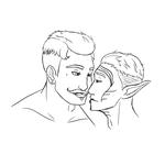Dorian and Mahanon Sketch by Grump-Support