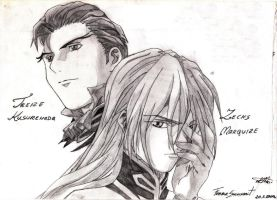 Treize and Zechs by FemaleShinigami