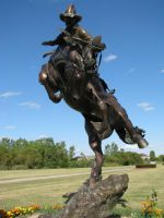 Cowboy Statue 4 by ItsAllStock