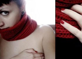 red scarf. by thesubliminalbeauty