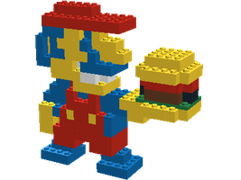 3-D Burger Mario by Laro44