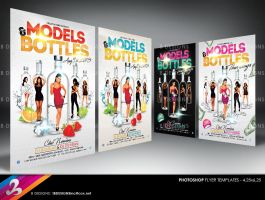 Models & Bottles Party Flyer Templates by AnotherBcreation
