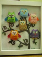 Owls in a Tree by MelloReflections