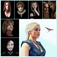 Game of Thrones Portraits by logancarroll